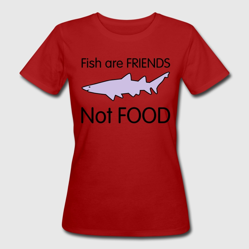 Fish are Friends not Food T-shirts - Ekologisk T-shirt dam