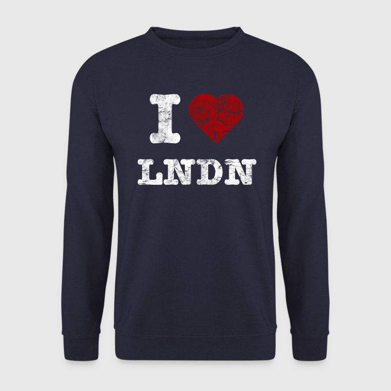 I Love LoNDoN vintage light Sudadera - Sudadera hombre