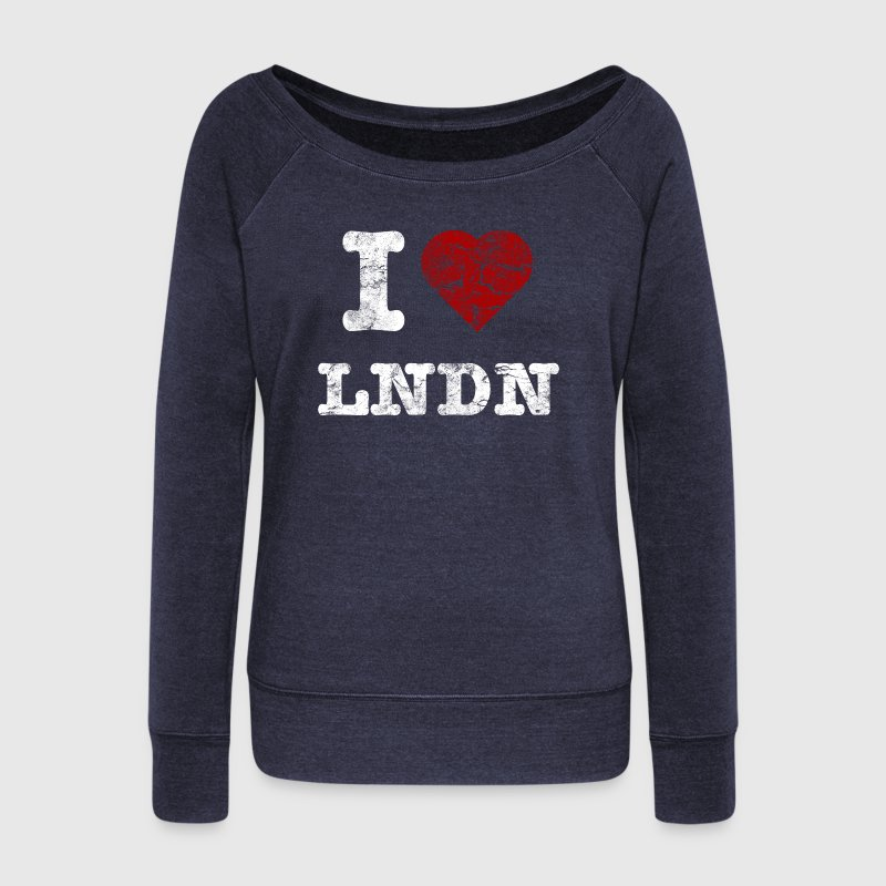 I Love LoNDoN vintage light Sweat-shirts - Pull Femme col bateau de Bella