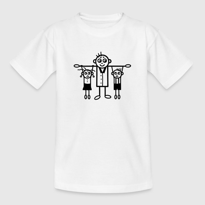 Father with son and daughter Shirts - Kids' T-Shirt