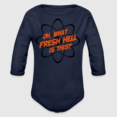 Oh, What Fresh Hell Is This? - Organic Longsleeve Baby Bodysuit