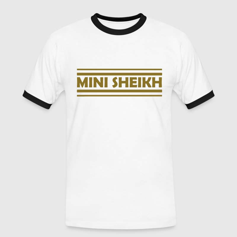 Mini Sheikh. smaller Sheikh T-Shirts - Men's Ringer Shirt