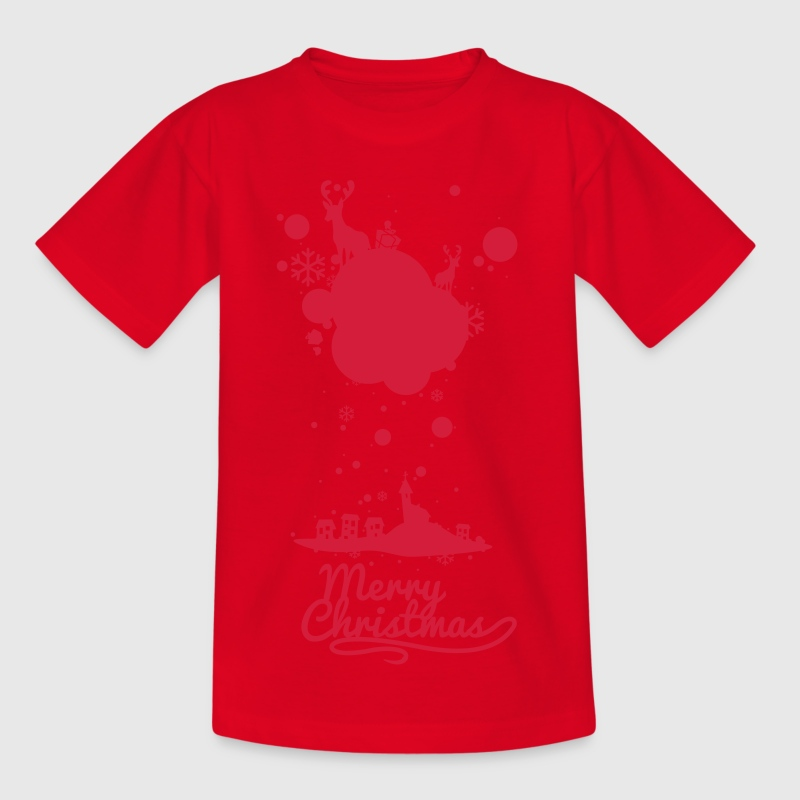 Christmas symbols with snow and merry christmas Shirts - Kids' T-Shirt