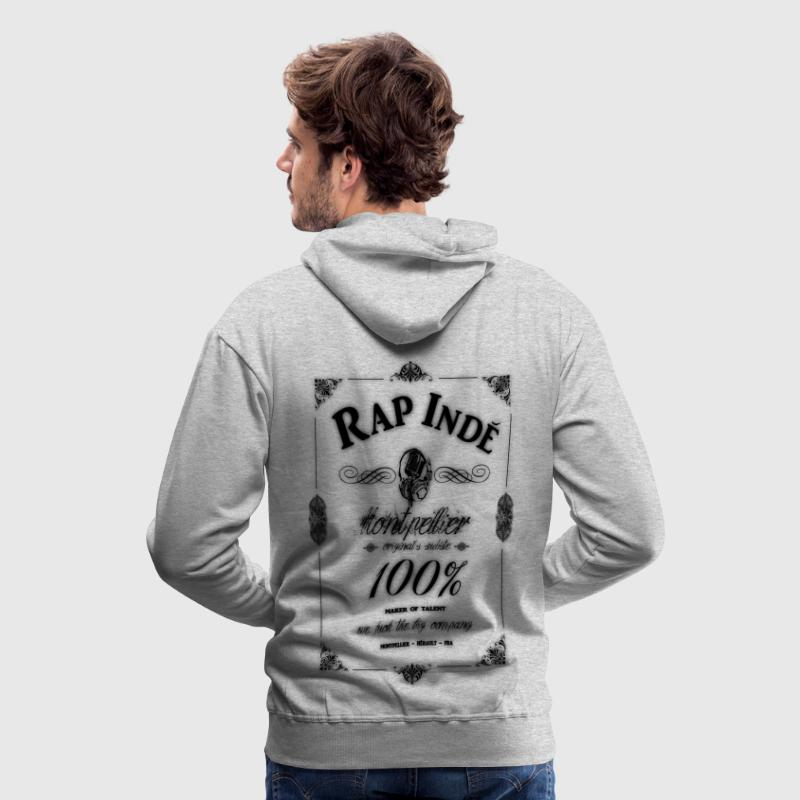 montpellier 100% rap indé Sweat-shirts - Sweat-shirt à capuche Premium pour hommes