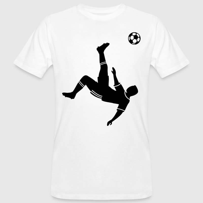 Bicycle kick soccer ball soccer player football T-Shirts - Men's Organic T-shirt