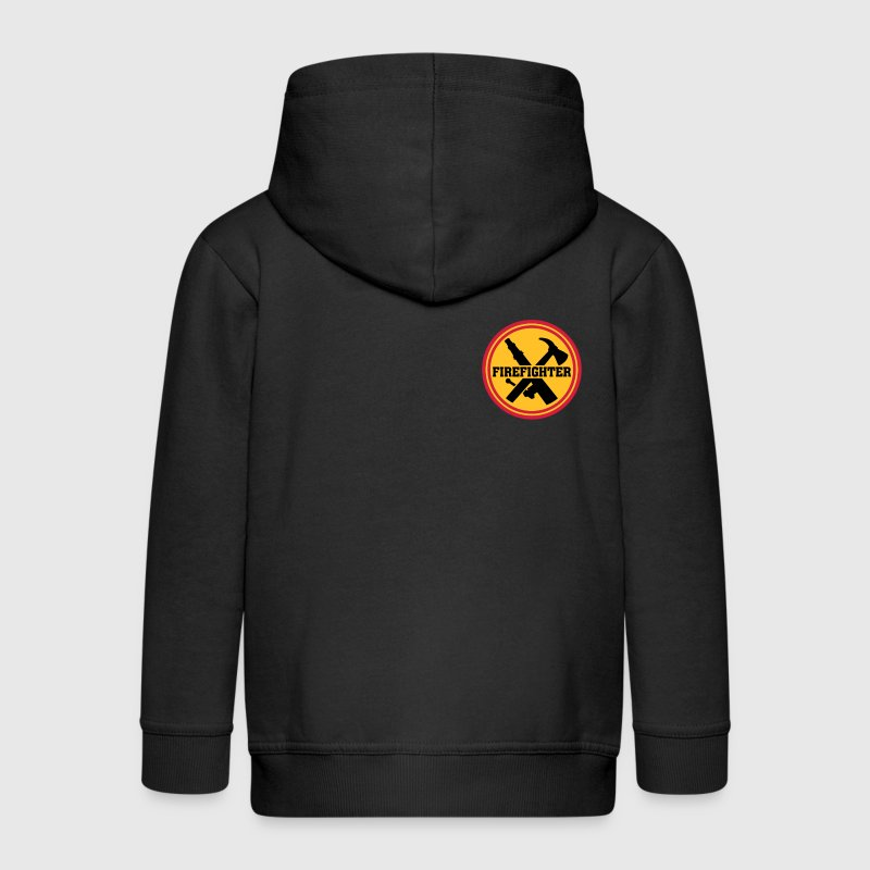 Firefighter Brandweer Logo Icon Fire Department Sweaters - Kinderen Premium jas met capuchon
