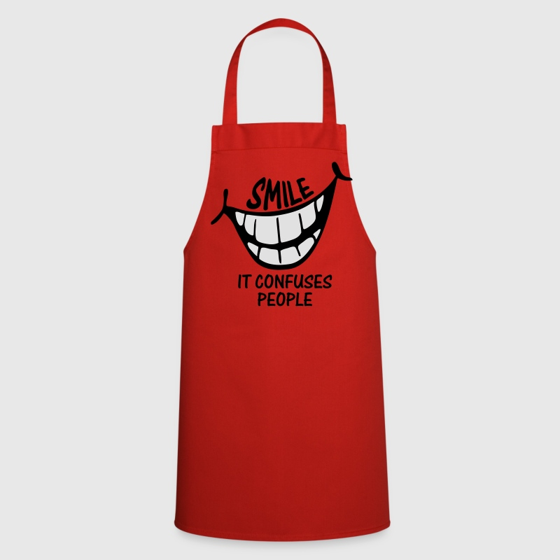 Smile It Confuses People - Cooking Apron - Cooking Apron