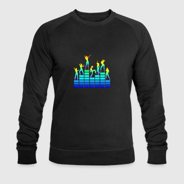 Dancing girls - equalizer - EQ -  music - sound T-shirts - Økologisk Stanley & Stella sweatshirt til herrer