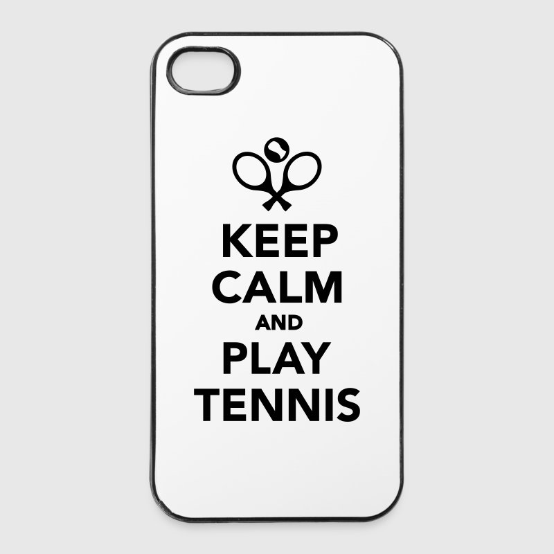 Keep calm and play Tennis Sonstige - iPhone 4/4s Hard Case