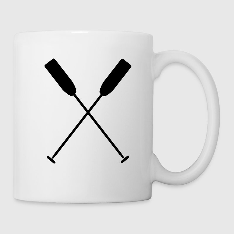 Crossed paddle dragon boat canoe 1 c. Bottles & Mugs - Mug