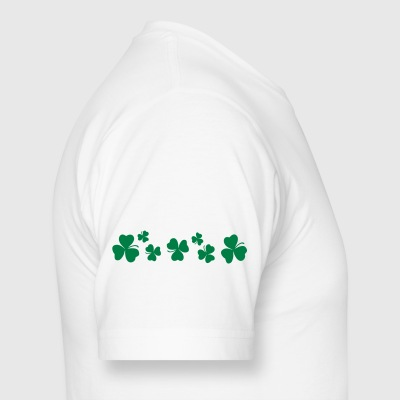 Shamrock clover leaves water bottle - Men's Long Body Urban Tee