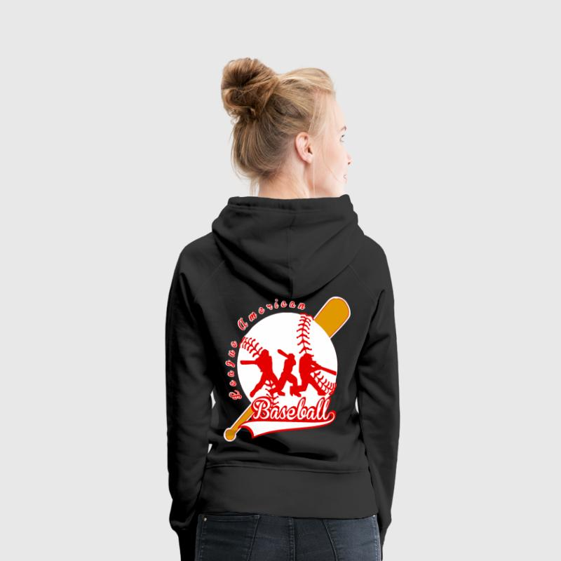 baseball league american Sweat-shirts - Sweat-shirt à capuche Premium pour femmes