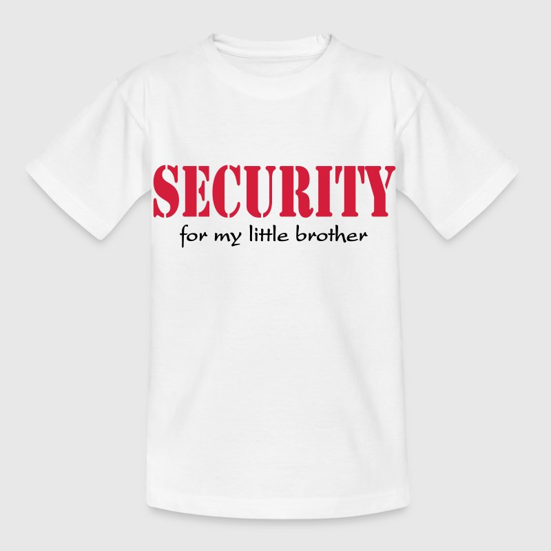 Security for my little Brother Shirts - Kinderen T-shirt