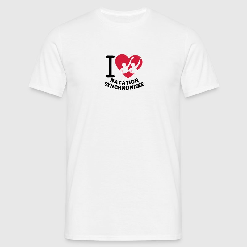 love natation synchronisee coeur2 Tee shirts - T-shirt Homme
