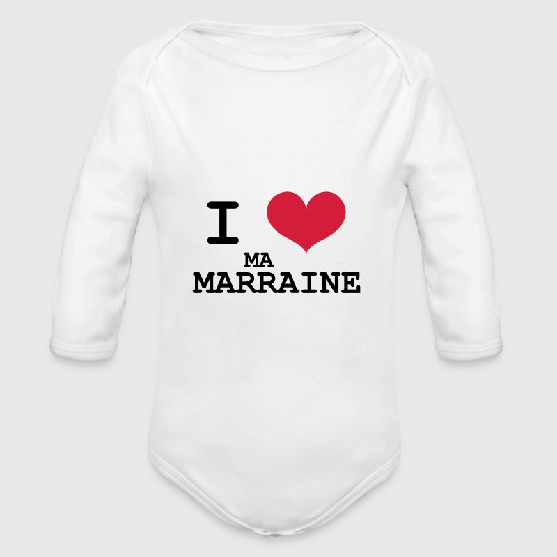I love ma marraine Sweats - Body bébé bio manches longues