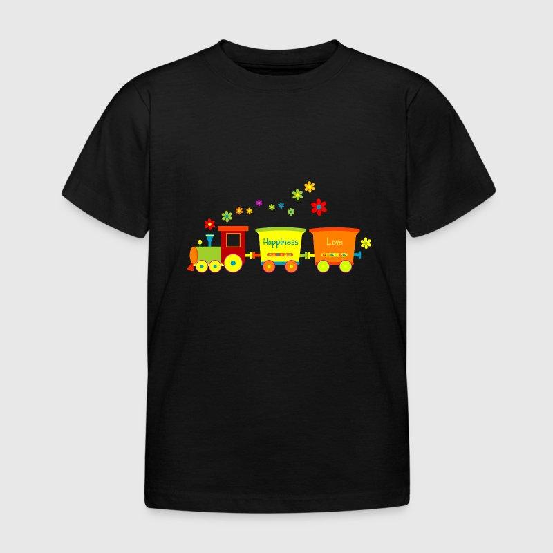 eisenbahn kinderspielzeug zug fr hlingsblumen t shirt. Black Bedroom Furniture Sets. Home Design Ideas