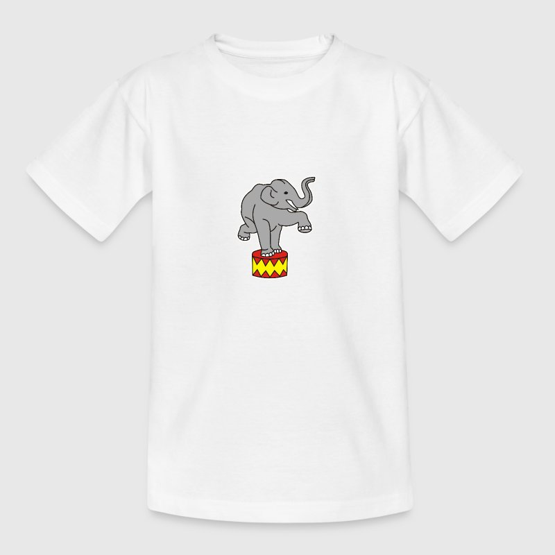 Zoo Zirkus Elefanten Circus Elephants Retro Comic T-Shirts - Teenager T-Shirt