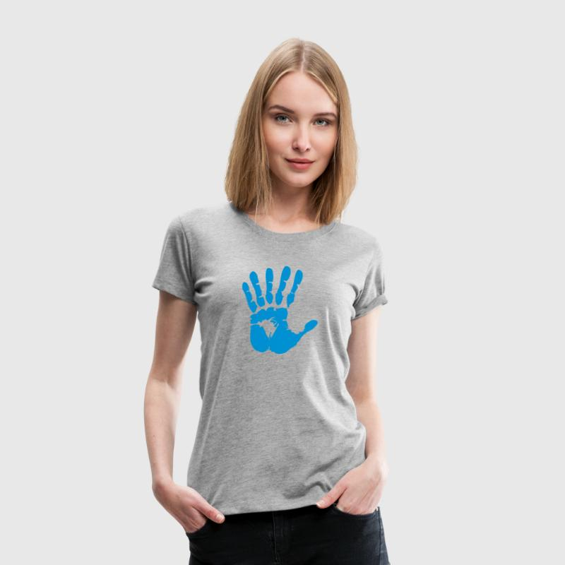 hand with 6 fingers T-Shirts - Women's Premium T-Shirt