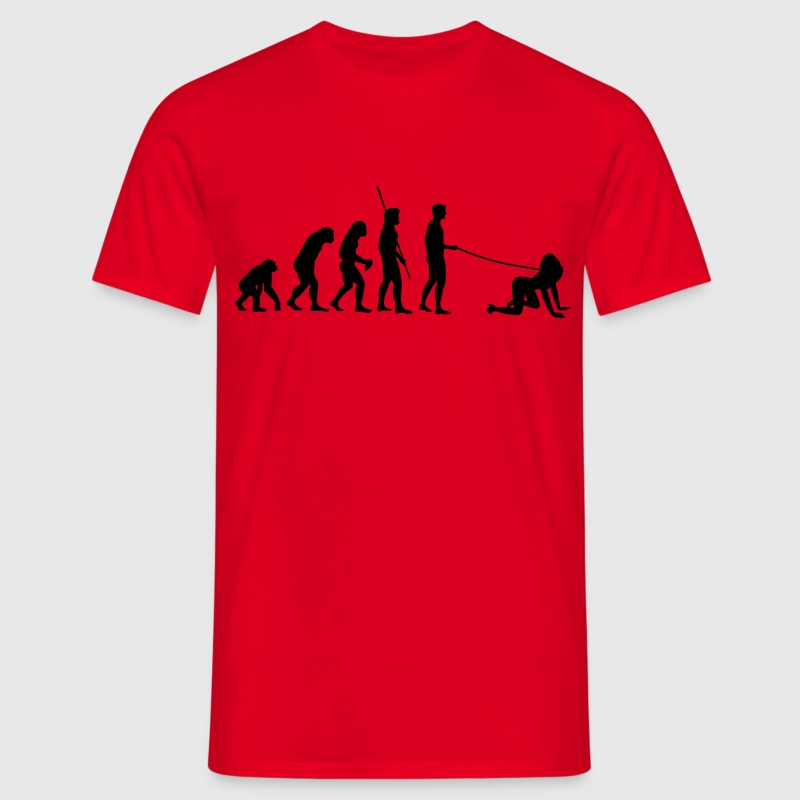 Evolution man goes walkies  T-Shirts - Men's T-Shirt