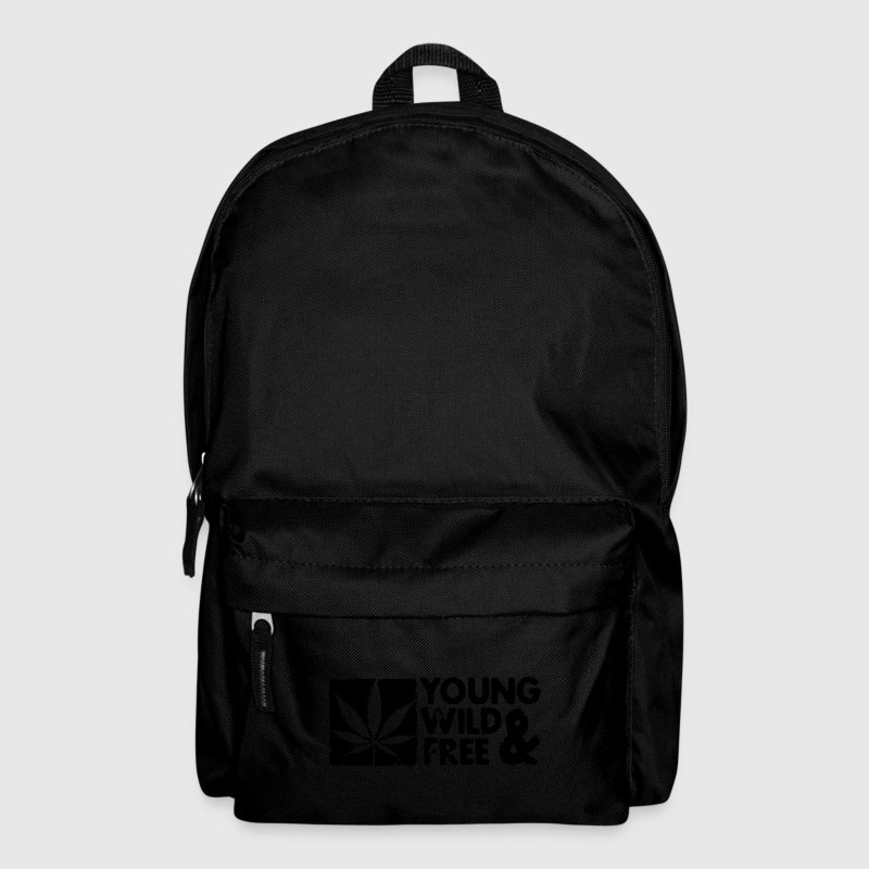 young wild and free weed leaf boxed Bolsas - Mochila