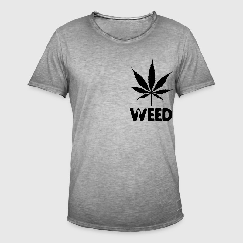 weed with leaf Trousers & Shorts - Men's Vintage T-Shirt
