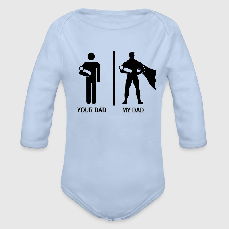 your dad, my dad Sweaters - Baby bio-rompertje met lange mouwen