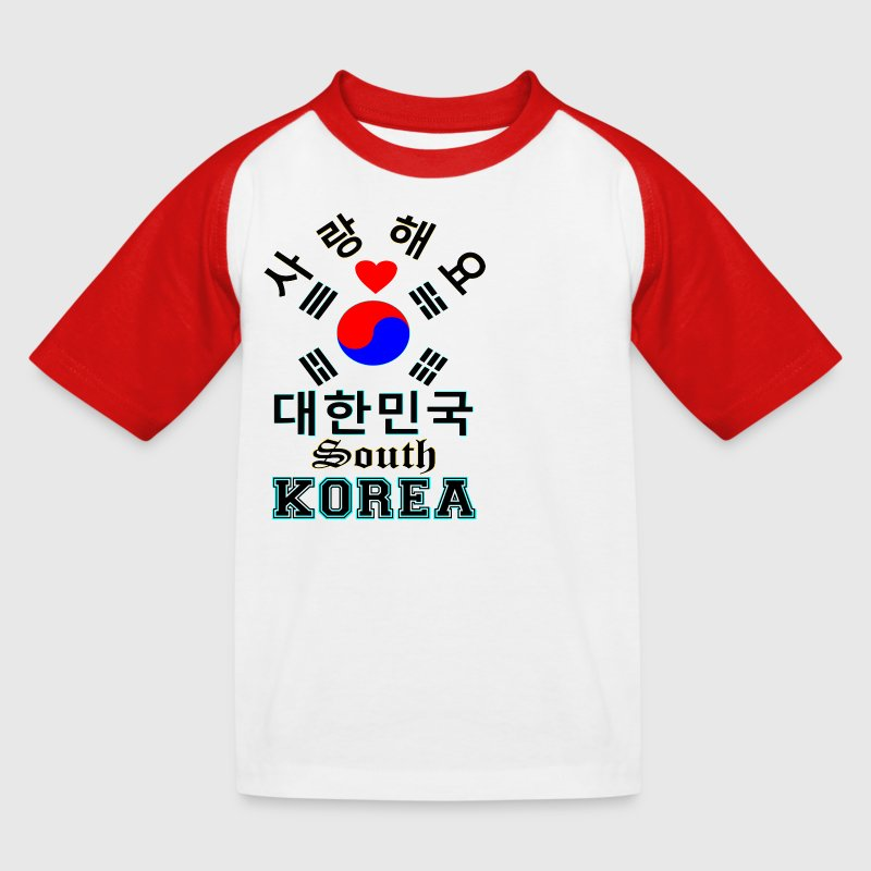۞»♥Love South Korea Kids' Baseball Tee♥«۞ - Kids' Baseball T-Shirt