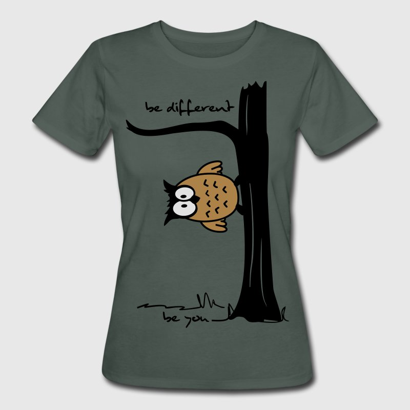 Eule auf Baum be different, be you T-Shirts - Frauen Bio-T-Shirt