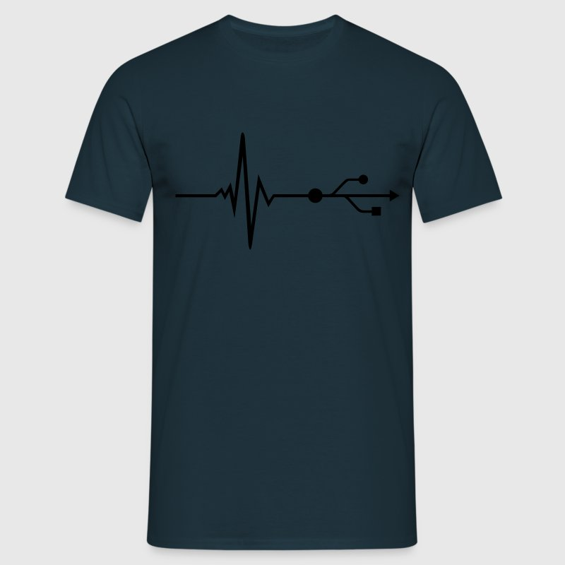 USB - DJ - Pulse - Beat T-shirts - Herre-T-shirt