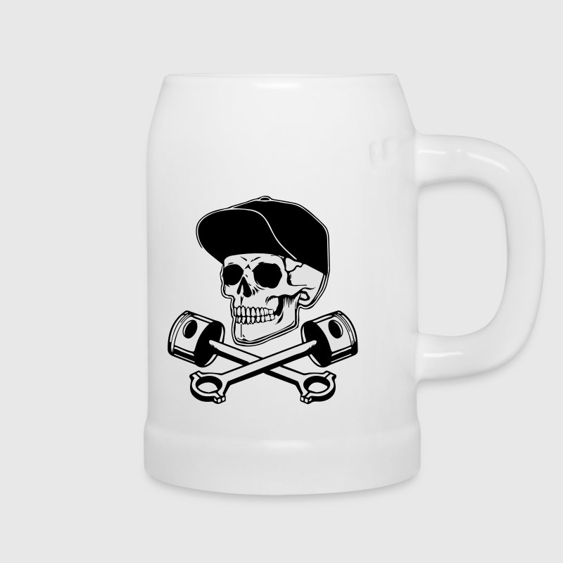 SKULL AND PISTONS Bottles & Mugs - Beer Mug
