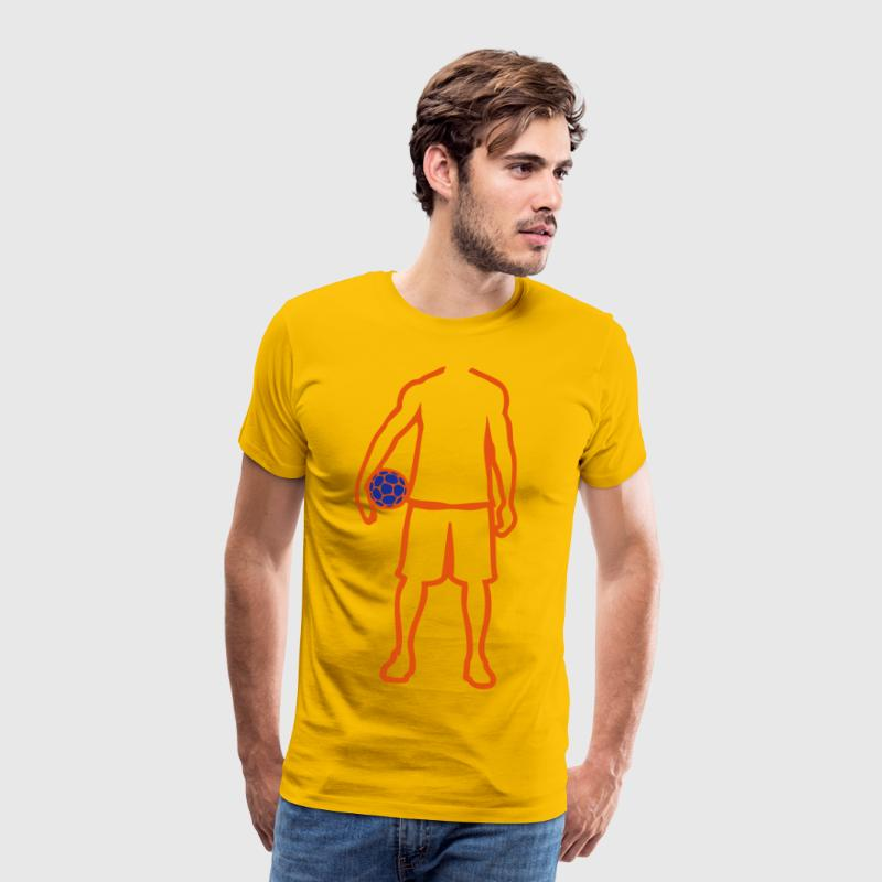 joueur handball player trace dessin 1812 Tee shirts - T-shirt Premium Homme
