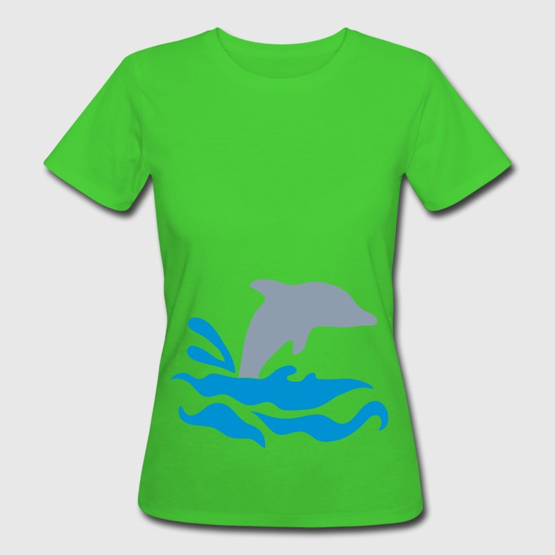 Light green dolphin Women - Women's Organic T-shirt