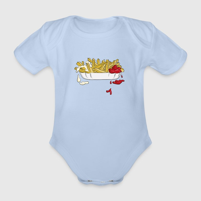 Pommes Frittes T-Shirts - Baby Bio-Kurzarm-Body