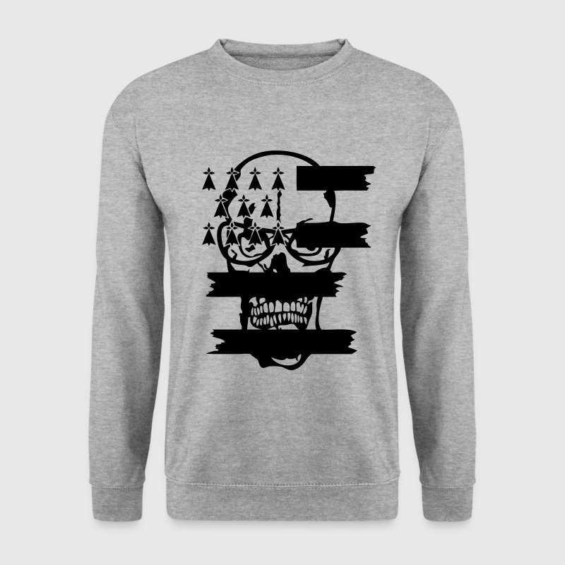 tete mort skull drapeau breton hermine Sweat-shirts - Sweat-shirt Homme