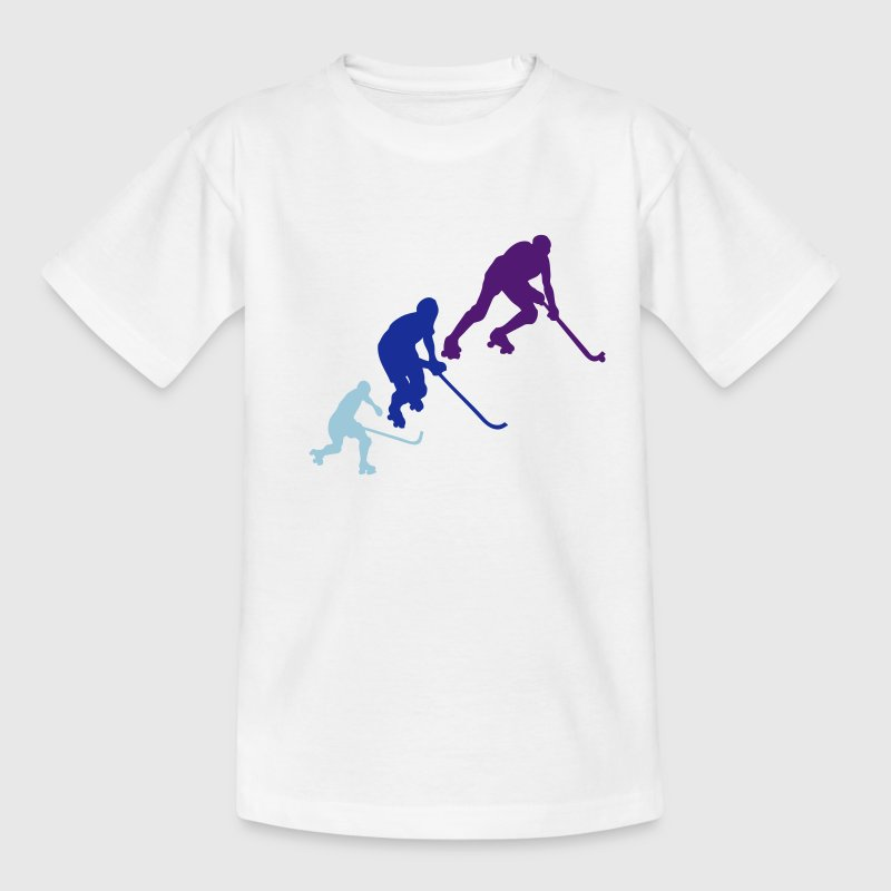 rink hockey silhouette player6 animation Tee shirts - T-shirt Enfant