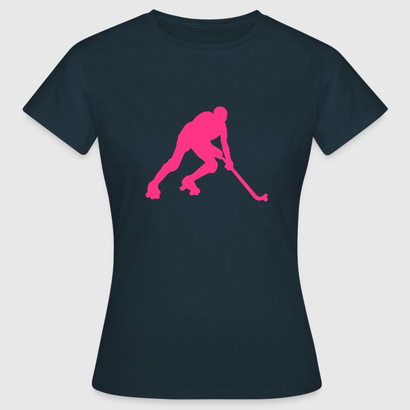 rink hockey silhouette joueur1 Tee shirts - T-shirt Femme