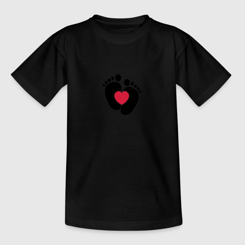 Heart Baby Feet Shirts - Teenage T-shirt