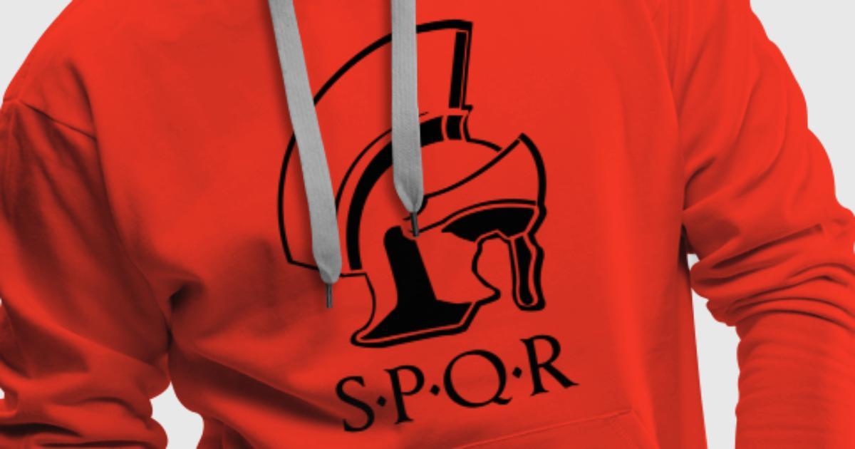 Romeinse helm SPQR trui met capuchon | Spreadshirt