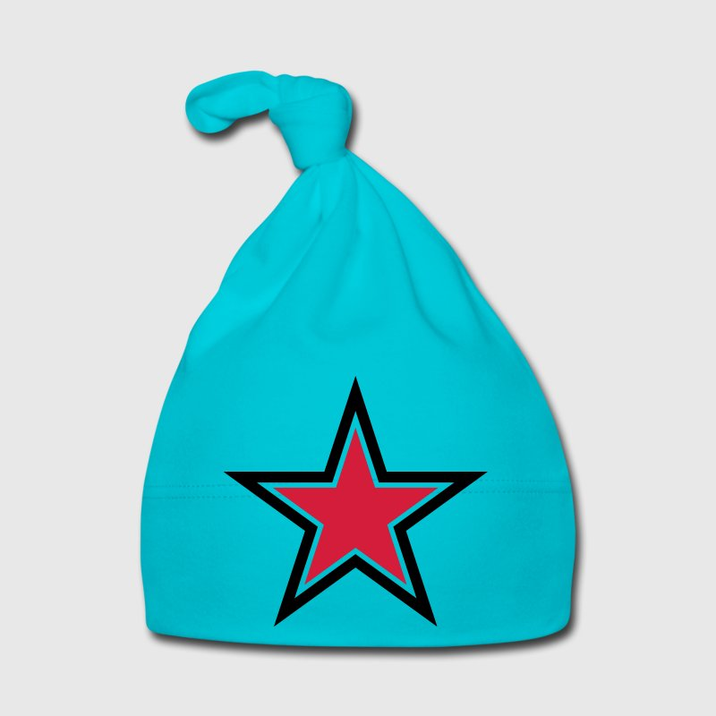 sharp red star with sharp black outline Kids and Babies - Baby Cap