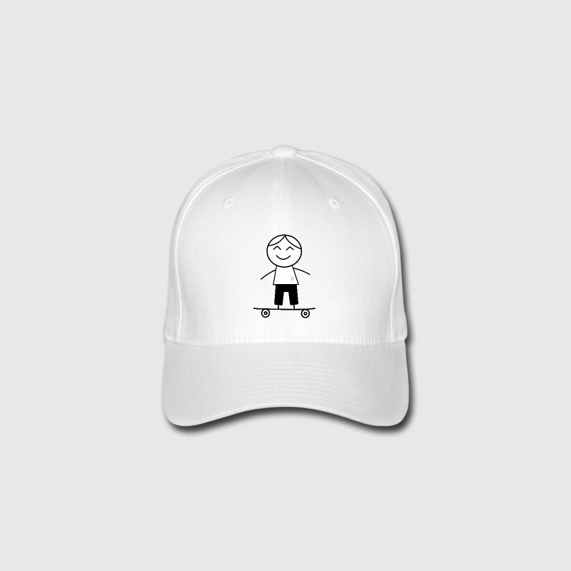 skater boy Caps & Hats - Flexfit Baseball Cap