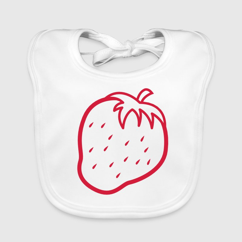 outline of a strawberry cool fruit Accessories - Baby Organic Bib