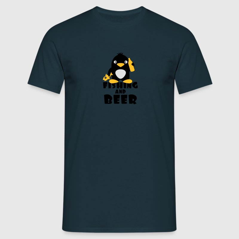 Fishing And Beer Penguin Tee shirts - T-shirt Homme