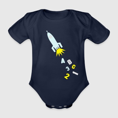 A B C Rocket - Organic Short-sleeved Baby Bodysuit