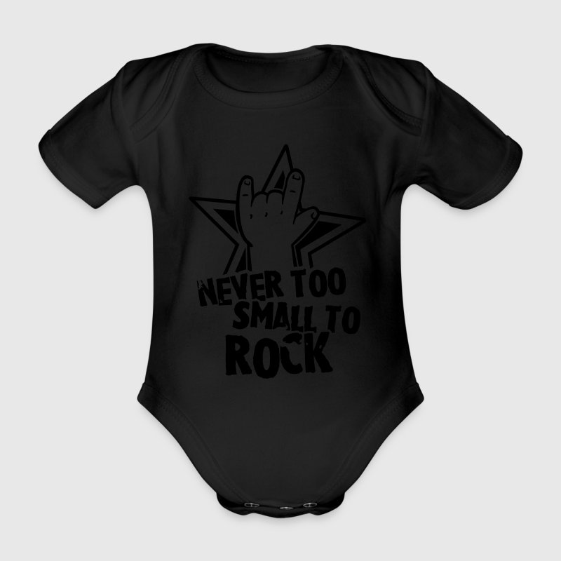 never too small to rock Tee shirts - Body bébé bio manches courtes