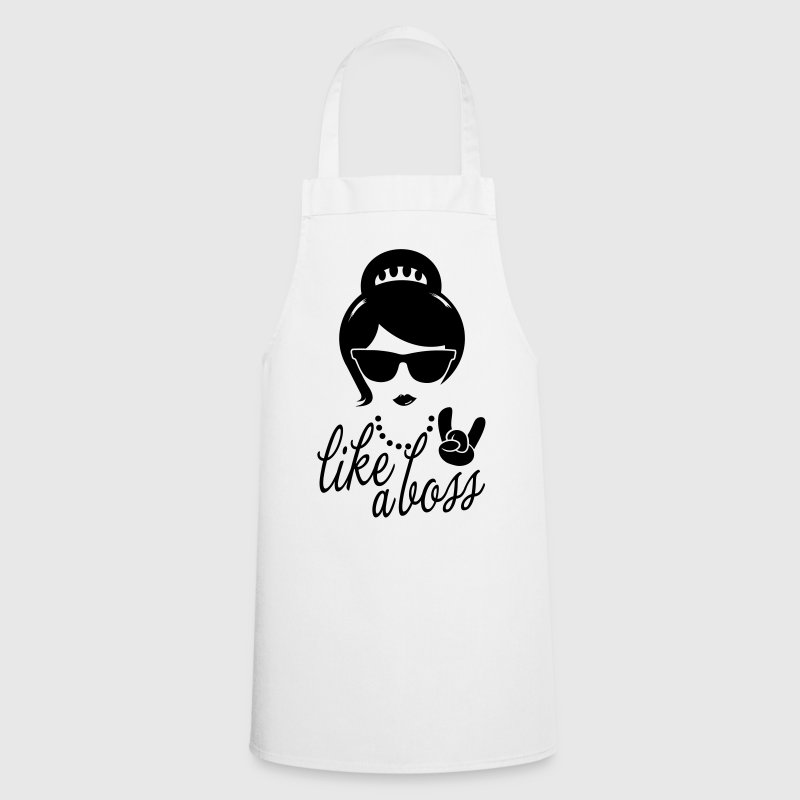 Like a i love strong hipster female boss woman  Aprons - Cooking Apron