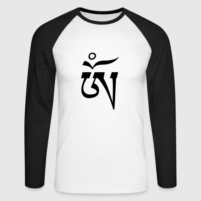 Aum OM Tibetan - Men's Long Sleeve Baseball T-Shirt