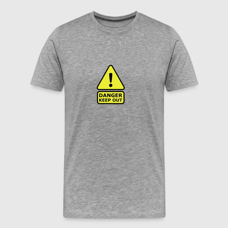 Danger Keep Out T-shirts - Mannen Premium T-shirt