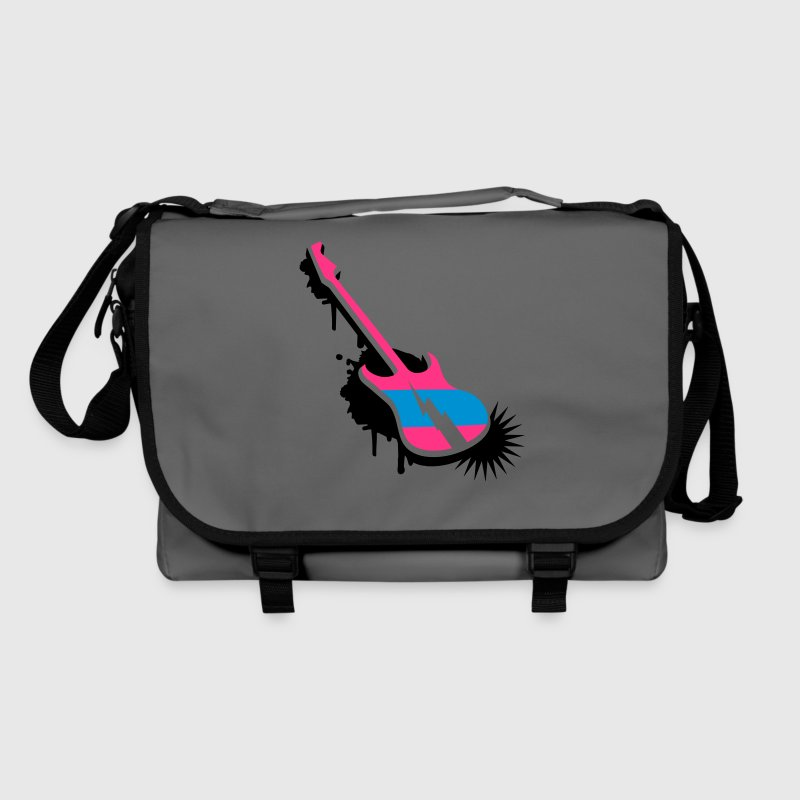 An electric guitar as a graffiti Bags  - Shoulder Bag