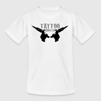 Tattoo Addicted Tattosüchtig Sucht Süchtig 2c T-Shirts - Teenager T-Shirt
