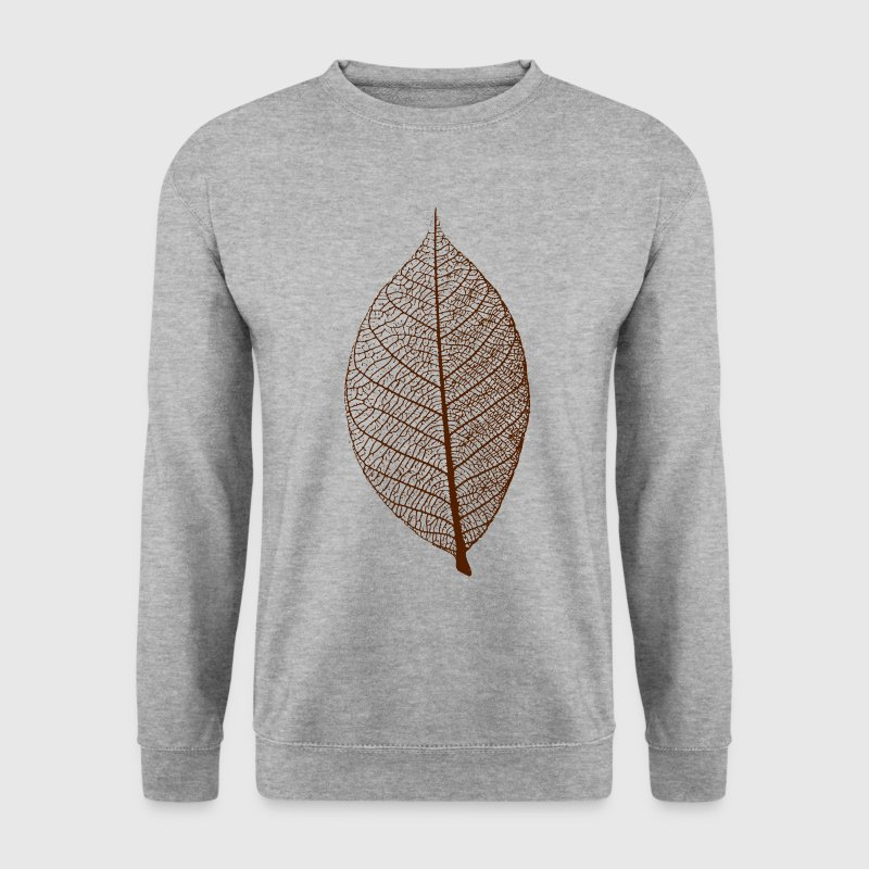 leaf tree forest skeleton pattern nerve love heart Hoodies & Sweatshirts - Men's Sweatshirt